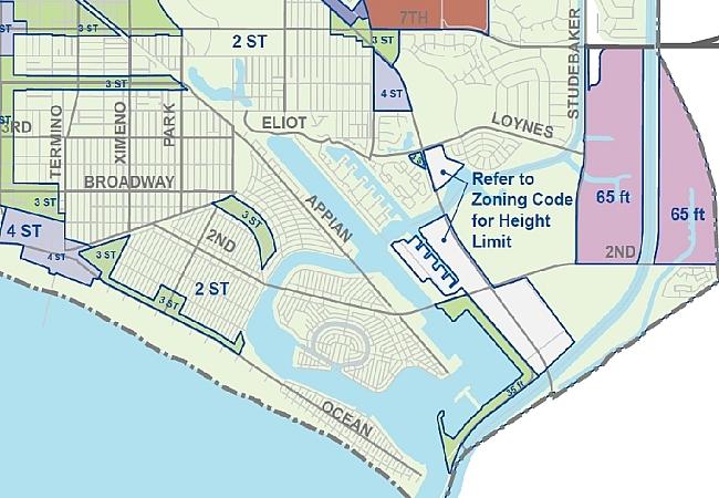 Long Beach City Zoning Map