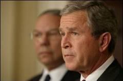 Bush watches Powell @ U.N. Feb 5/03