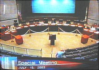 Charter Amendment Meeting cancelled July 15/03