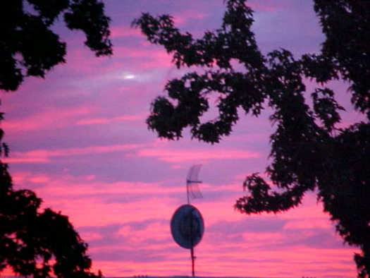 Deep purple sunset Aug 13/03