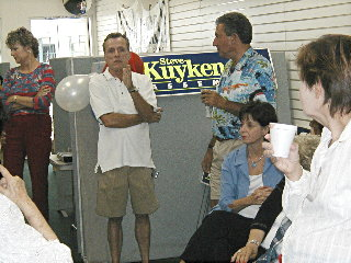 Kuykendall opens LB campaign office, Aug. 14/04