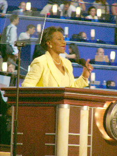 Cong. Millender-McDonald @ Dem Convention, July 29/04