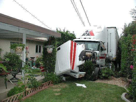 405 Truck into backyard Aug. 3
