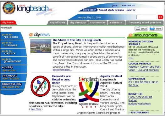 City of LB website