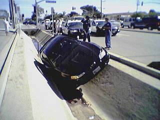 Car Atherton ditch Oct. 15/05