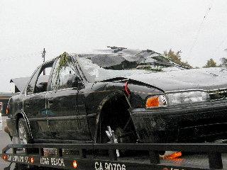 Car Clark Ave. flood control Sept 18/05