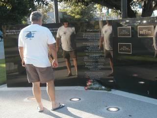 Memorial Wall for Dep. Ortiz, June 24/05