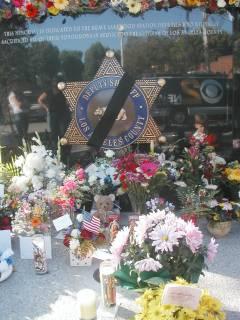 Memorial Wall June 25 for Dep. Ortiz