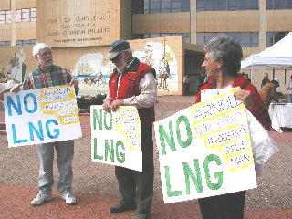 Anti-LNG rally, PoLB 2/16/05