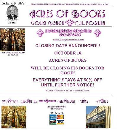 Acres of Books website, Sept. 7/08