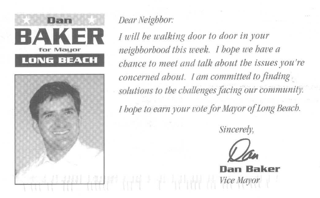 Baker postcard, July, 2001