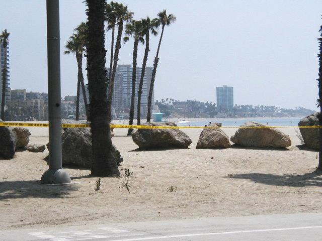 Beach diesel spill