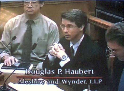 Doug Haubert, CA Senate hearing