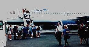 JetBlue plane on tarmac
