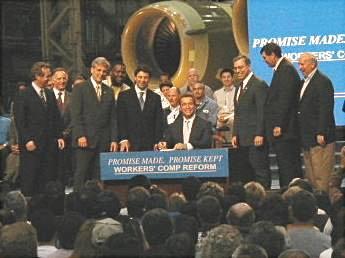 Gov. Schwarzenegger Workers comp 4/19/04