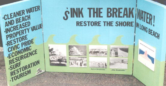 Surfrider anti-breakwater display
