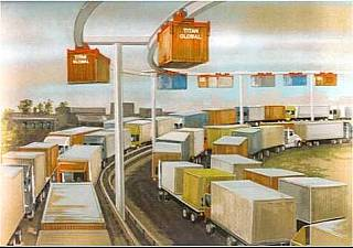 Container monorail